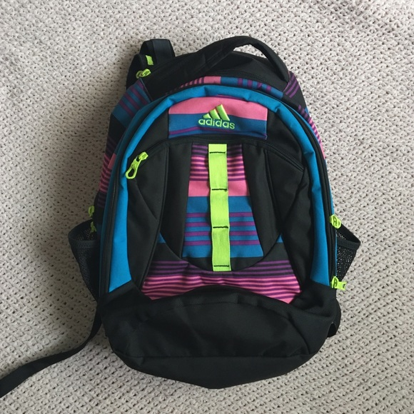 9bb99e4229 adidas Handbags - NEON PINK BLUE YELLOW GREEN BLACK ADIDAS BACKPACK